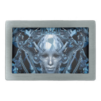 Metal Maiden Rectangular Belt Buckle