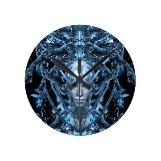 Metal Maiden Round Clock