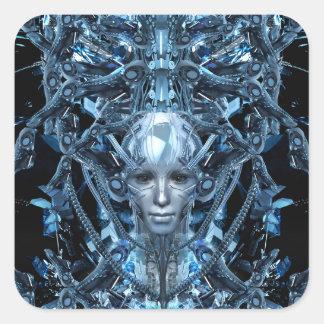 Metal Maiden Square Sticker
