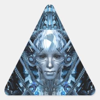 Metal Maiden Triangle Sticker