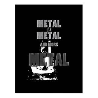 Metal, Metal and More Metal Postcard