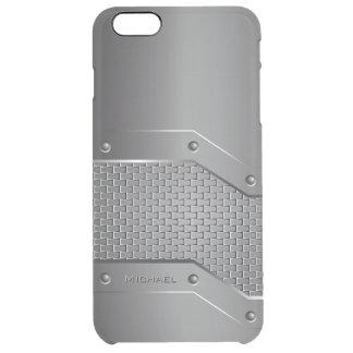 Metal Metallic Style Clear iPhone 6 Plus Case