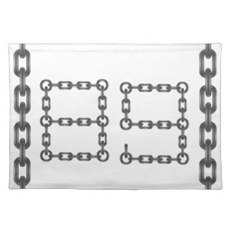 metal numbers placemat