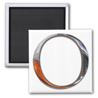 Metal O Monogram Magnet