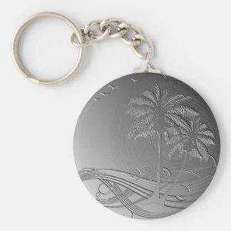 Metal Palms Key Chain