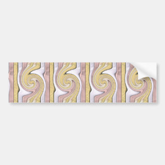 Metal pattern with shine bumper sticker