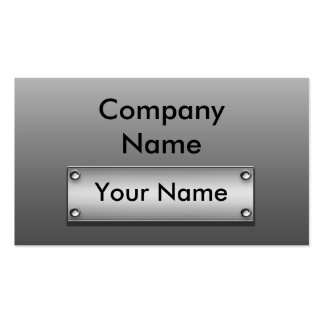 Metal Plate Business Cards