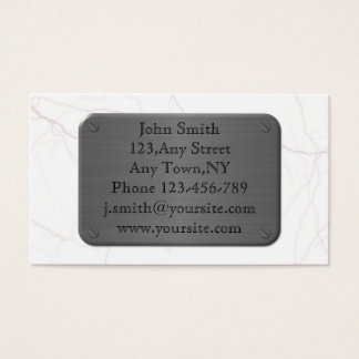 Metal Plate On Marble Business Card Template