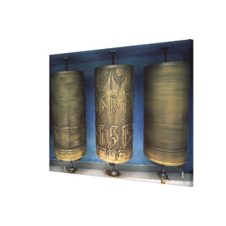 Metal Prayer Wheels Canvas Print