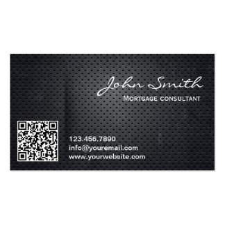 Metal QR Code Mortgage Agent Business Card