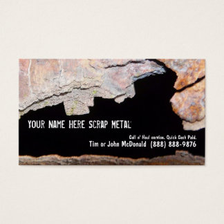 Metal Recycler Scrap - Rusted Pipe Business Card