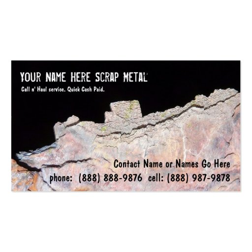 Metal Recycler Scrap - Rusted Pipe Business Card Templates