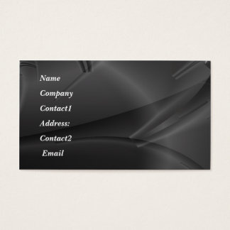 metal - reflection business card