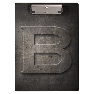 Metal Rustic B Monogram Clipboard