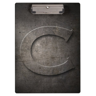 Metal Rustic C Monogram Clipboard