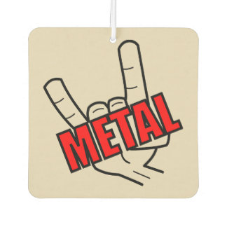 Metal Salute Car Air Freshener