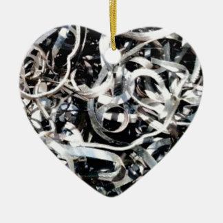 metal scrap tangle ceramic ornament