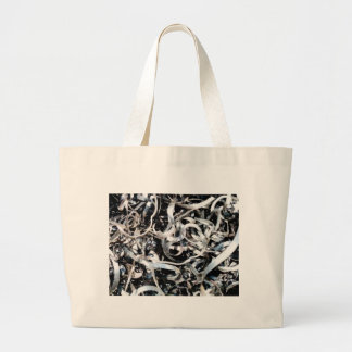 metal scrap tangle large tote bag