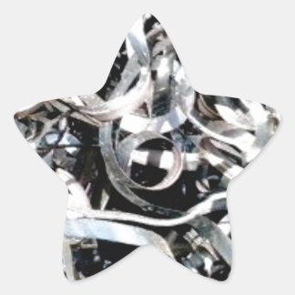 metal scrap tangle star sticker