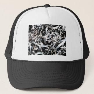 metal scrap tangle trucker hat