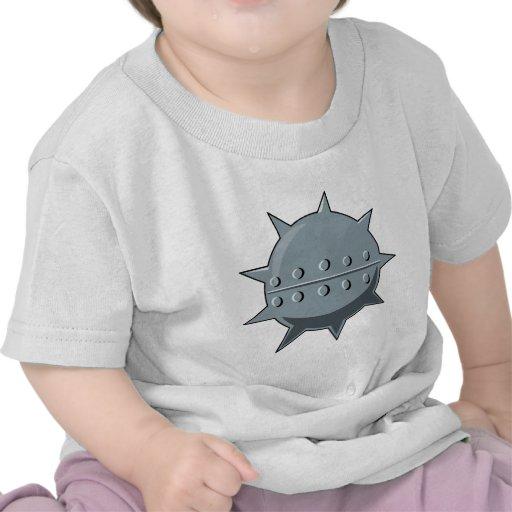 Metal sea mine t shirts