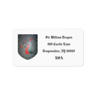 Metal Shield Dragon White Label