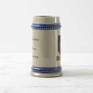 Metal Shield Lion Latin Design Beer Stein