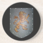 Metal Shield Medieval Lion Coaster