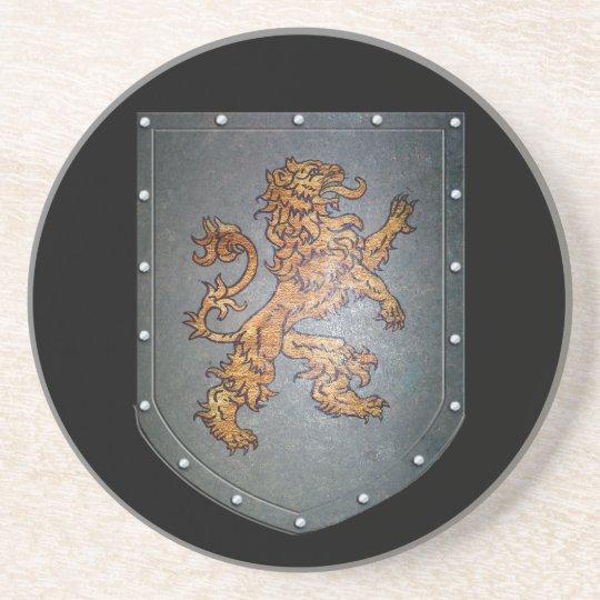 Metal Shield Medieval Lion Coaster
