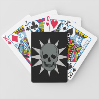 Metal Skull Bicycle Playing Cards