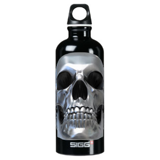 Metal Skull Water Bottle