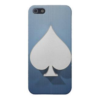 Metal Spade on blue iPhone 5/5S Case