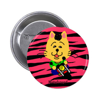 Metal speed full opening dechiyuka? Cat badge 2 Inch Round Button