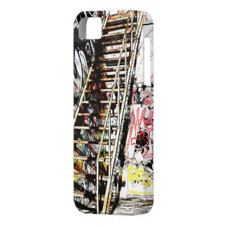 metal staircase with graffiti wall iPhone 5 case