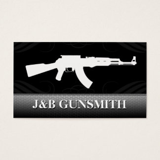 Metal Steel and Guns Gun Shop Business Cards