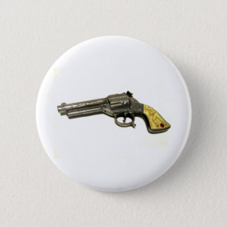 Metal Toy Gun 2 Inch Round Button
