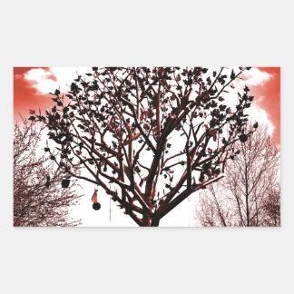metal tree on the field digital photo red tint