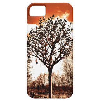metal tree on the field orange tint iPhone 5 cases