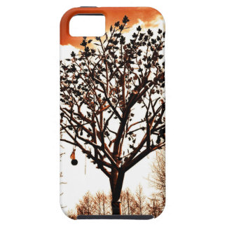 metal tree on the field orange tint iPhone 5 cover