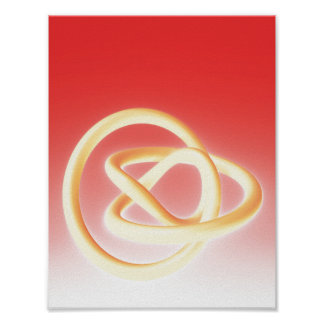 Metal Twist Yellow Red Poster
