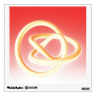 Metal Twist Yellow Red Wall Decal