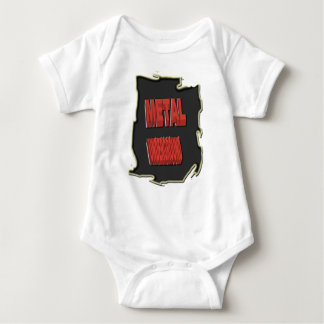 Metal Underground Black ethnic Background Baby Bodysuit