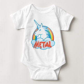 metal-unicorn baby bodysuit