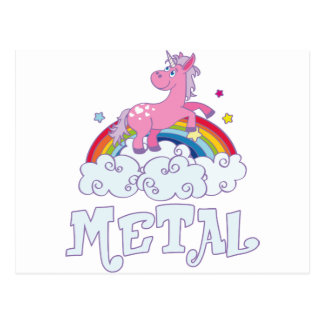 Metal Unicorn Postcard