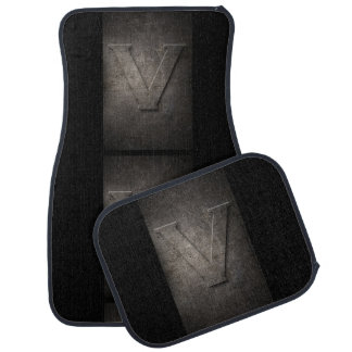 Metal V Monogram Set of Car Mats Car Liners