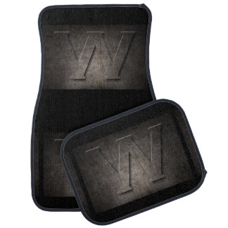 Metal W Monogram Set of Car Mats Auto Mat