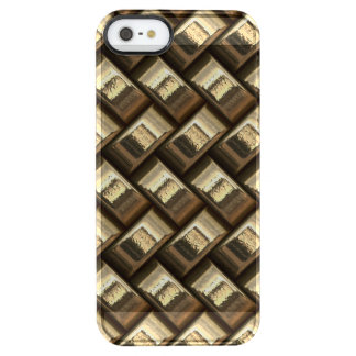 Metal weave golden basketwork clear iPhone SE/5/5s case