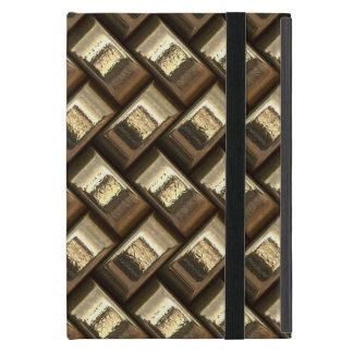 Metal weave golden basketwork iPad mini cover