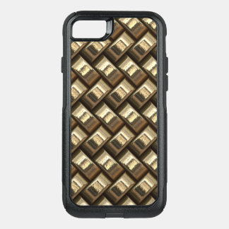 Metal weave golden basketwork OtterBox commuter iPhone 8/7 case