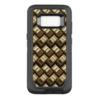 Metal weave golden basketwork OtterBox defender samsung galaxy s8 case
